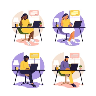Иллюстрация концепции образования онлайн-класса