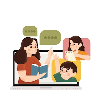 Онлайн-класс с детской иллюстрацией