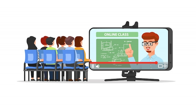 Online classes attended by students