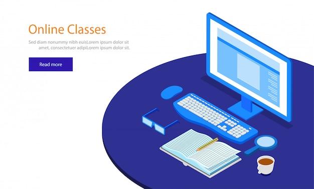 Online classes concept.