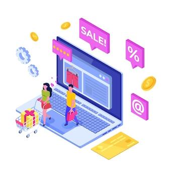 온라인 의류 쇼핑, 전자 상거래 판매, 디지털 마케팅.