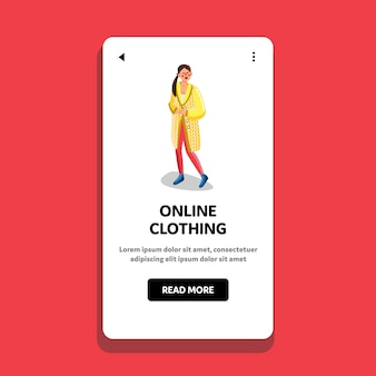 Online clothing shopping store e-commerce