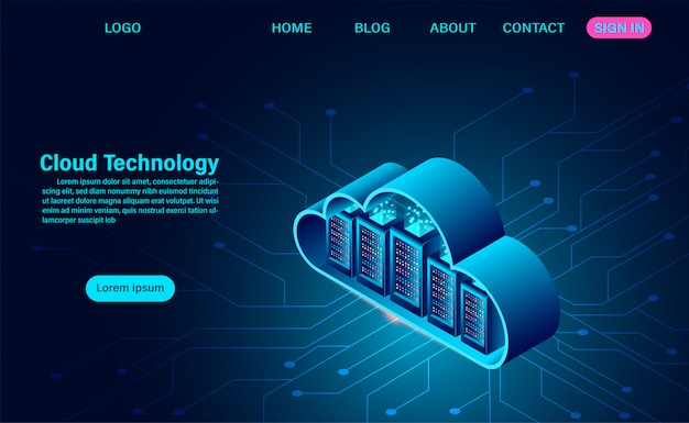 Online computing technology web template