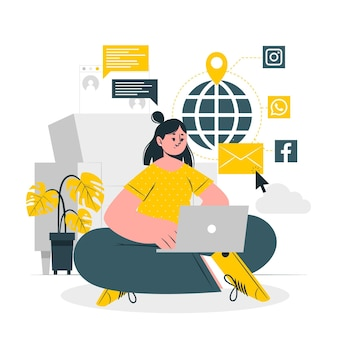 Illustrazione di concetto online