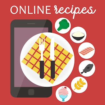 Online cooking recipes application