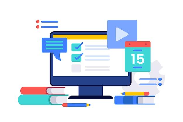 Online courses concept