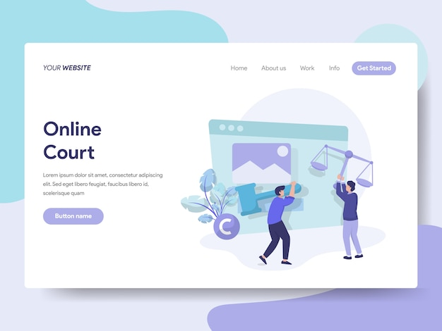 Online court for web page