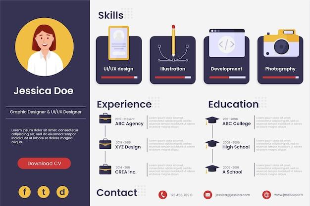Online curriculum vitae concept