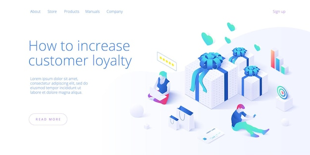 Online customer review concept in isometric .