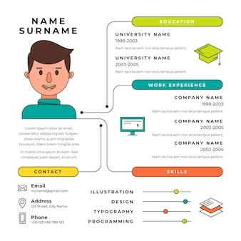 Концепция онлайн-резюме
