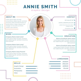 Online cv editorial template