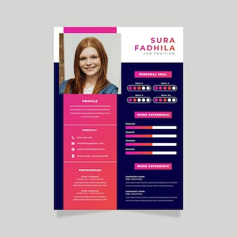 新入社員の印刷テンプレートのオンライン履歴書
