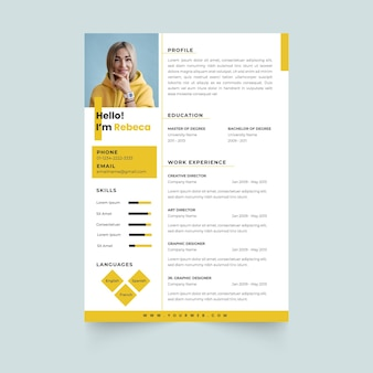 Online cv template design