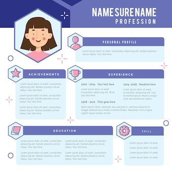 Online cv template style