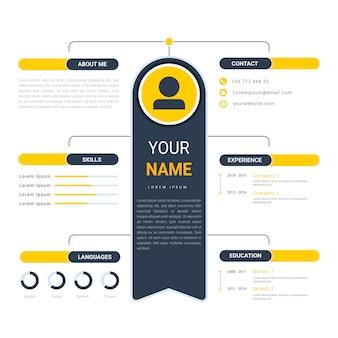 Online cv template vector design