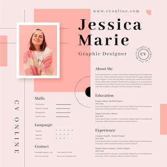 Online cv template with photo