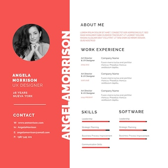 Online cv with photo avatar