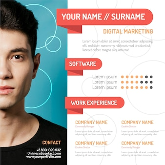 Online cv with photo design