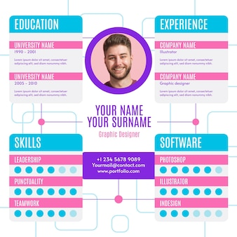 Online cv with photo template