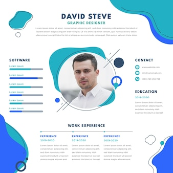 Online cv with photo