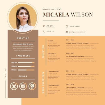 Online cv with picture