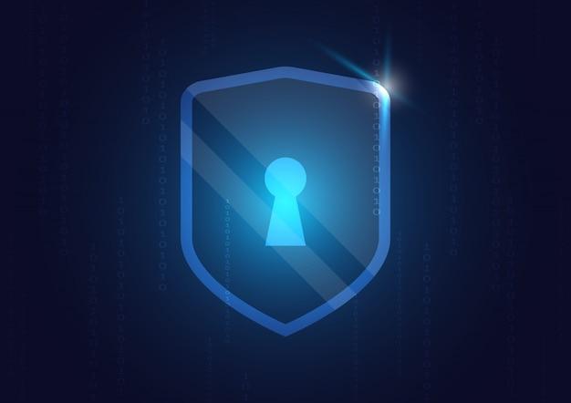 컴퓨터 기술로 온라인 데이터 보호 쉴드 및 요약