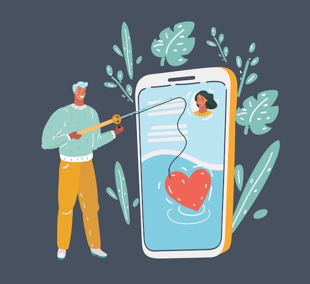 온라인 데이트 앱 개념