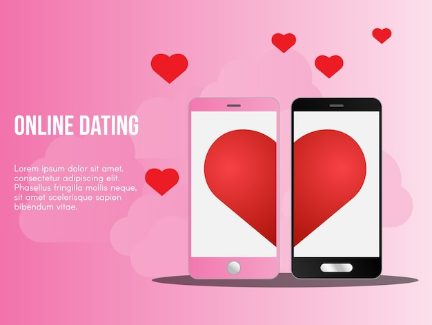 Online dating concept