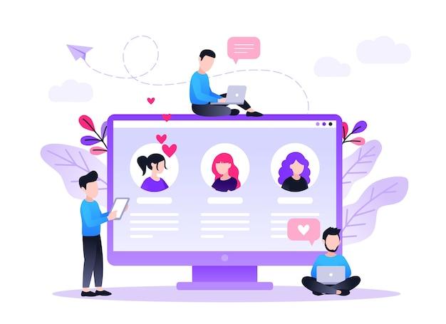Интернет-знакомства виртуальные отношения концепция приложений для знакомств найти любовь