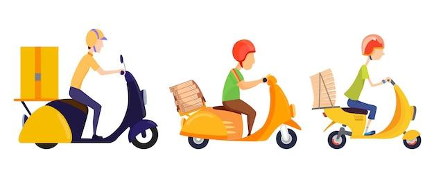 온라인 배달 서비스 개념. 집이나 사무실로 배달.