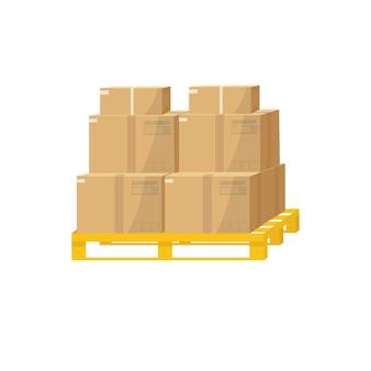 オンライン配信サービスのコンセプト。パッケージ、小包。郵便段ボール箱を追跡する注文。自宅やオフィスへの配達。ベクトル、フラットなデザイン。