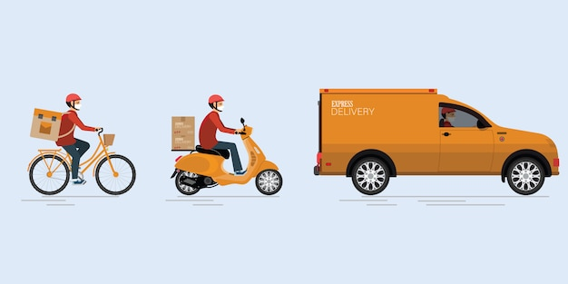 Online delivery service.