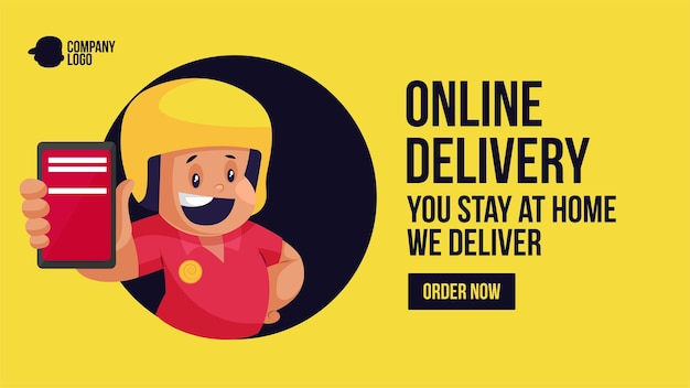 Online delivery you stay at home we deliver order now banner