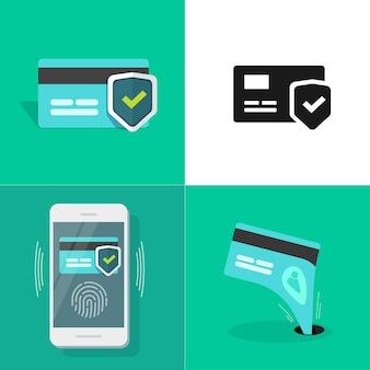 Безопасность цифровых денег в интернете, установленная с помощью защиты платежей по кредитным банковским картам