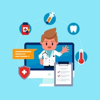Online doctor appointment for medical problems