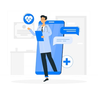 Online doctor concept illustration