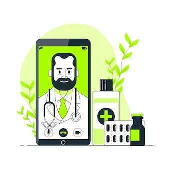 Illustrazione di concetto medico online