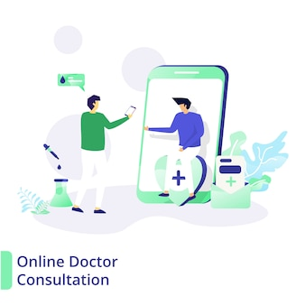 Online doctor consultation, the concept of medical and health