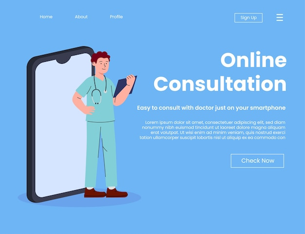 Online doctor consultation landing page