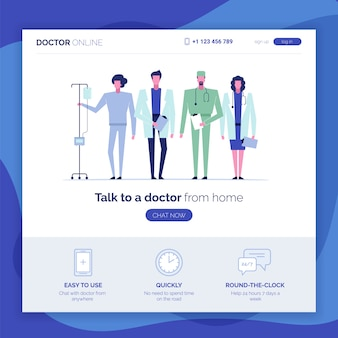 Online doctor consultation support web page