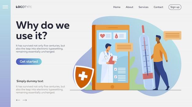 Online doctor consultation via smartphone
