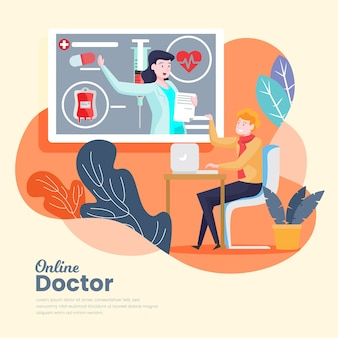 Online doctor innovation concept