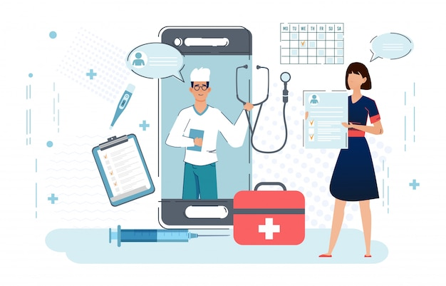 Online doctor, telemedicine, medical service online for patients.