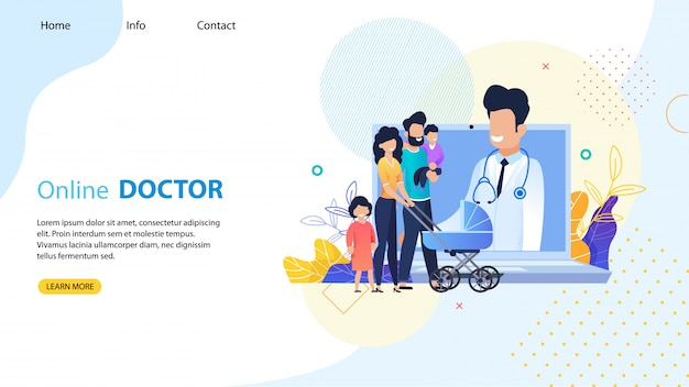 Online doctor for whole family landing