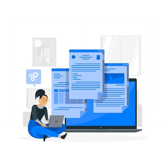 온라인 문서 개념 그림