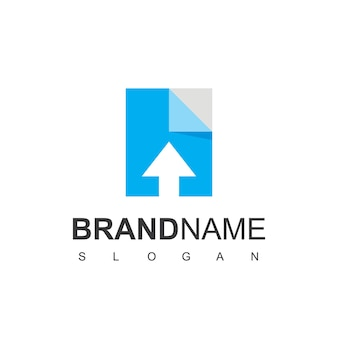 オンラインドキュメントのロゴデザインテンプレート
