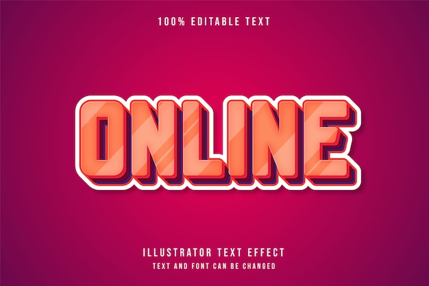 オンラインで編集可能なテキスト効果クリームグラデーションオレンジ赤紫レイヤースタイル効果