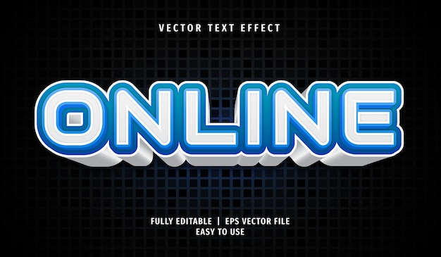 Online editable text effect style