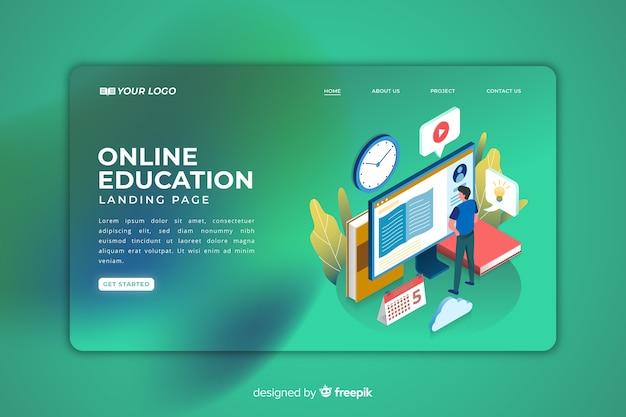 Online educaction landing page