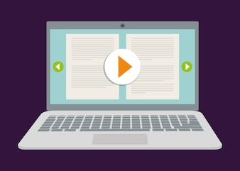 Online education and eLearning graphic design, vector illustration eps10